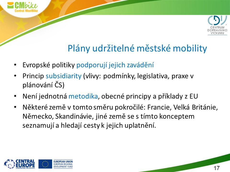 Plány udržitelné městské mobility