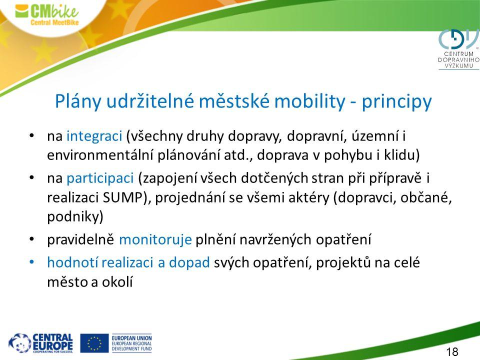 Plány udržitelné městské mobility - principy