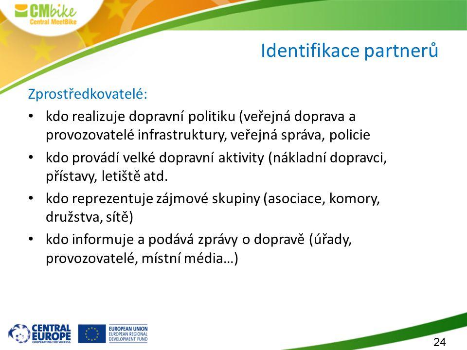 Identifikace partnerů