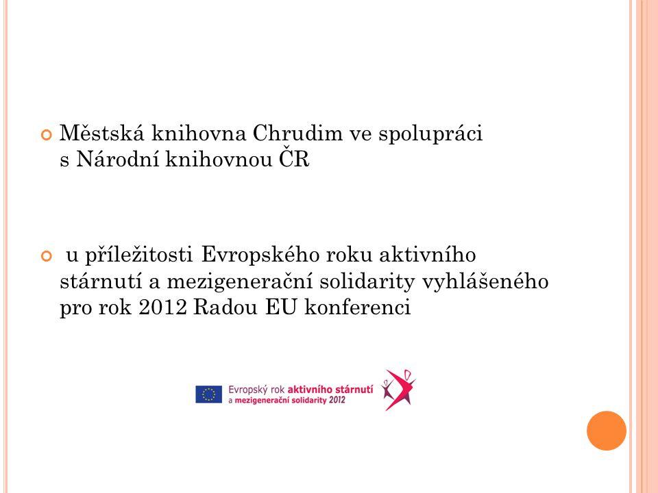 Městská knihovna Chrudim ve spolupráci s Národní knihovnou ČR