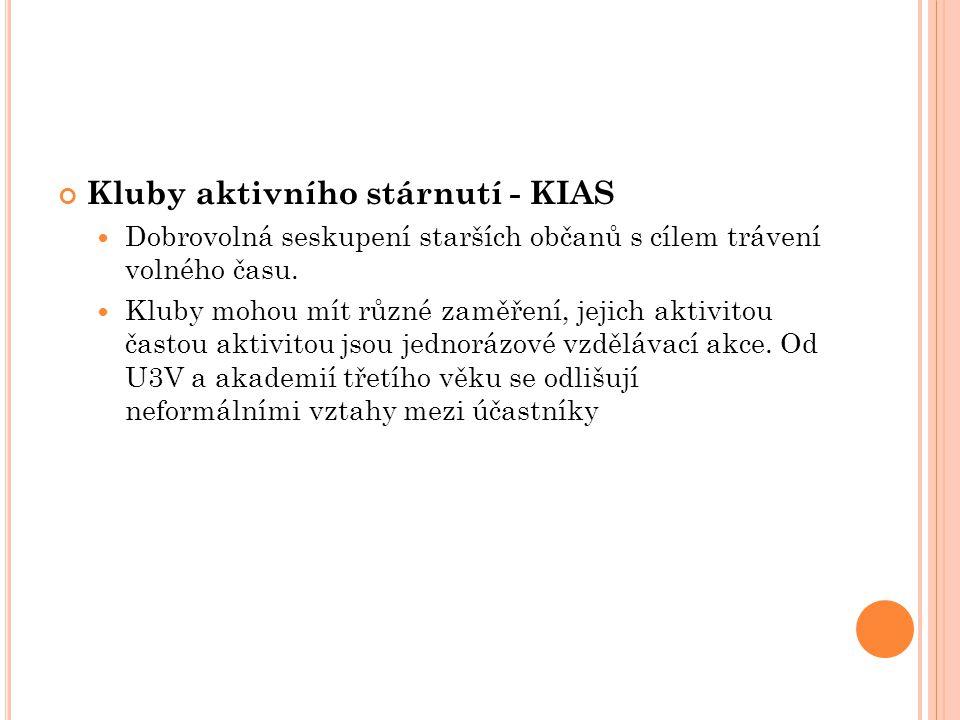 Kluby aktivního stárnutí - KIAS