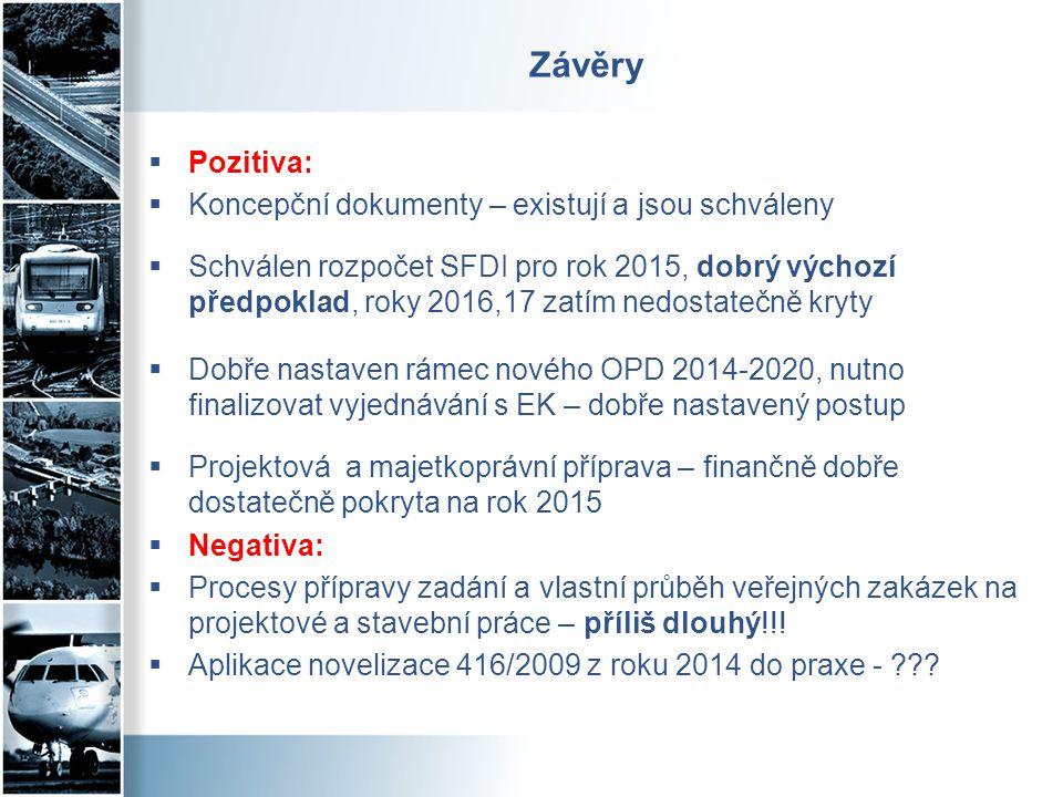 Závěry Pozitiva: Koncepční dokumenty – existují a jsou schváleny