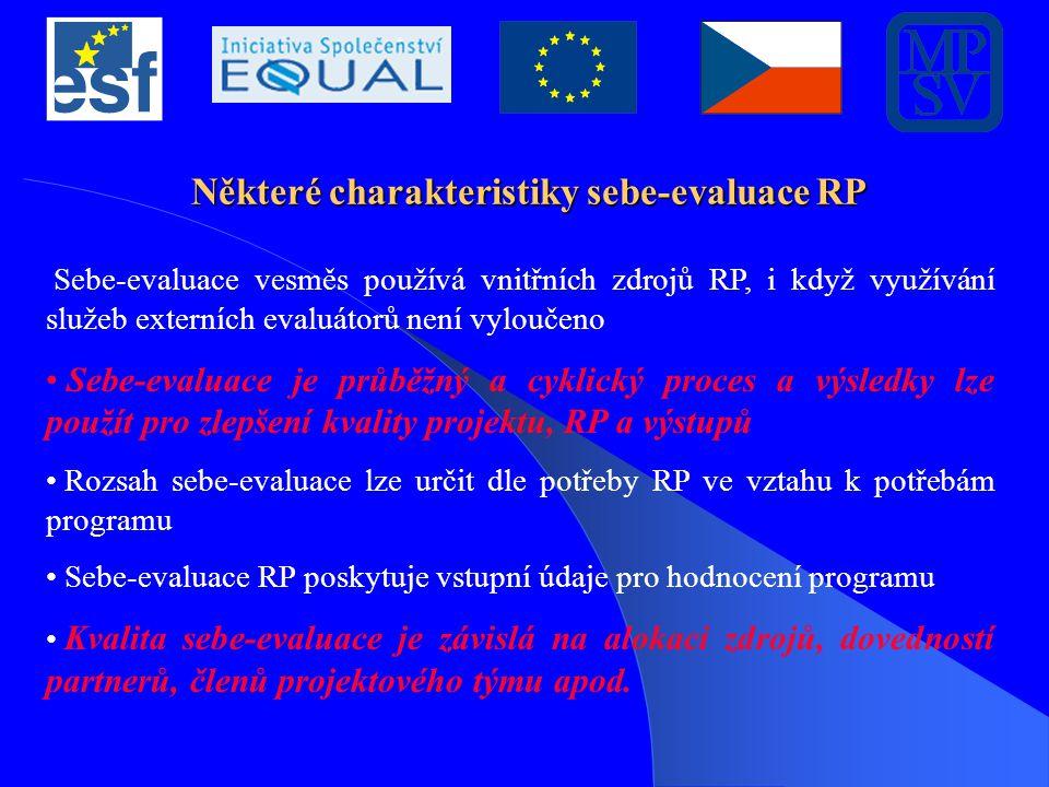 Některé charakteristiky sebe-evaluace RP