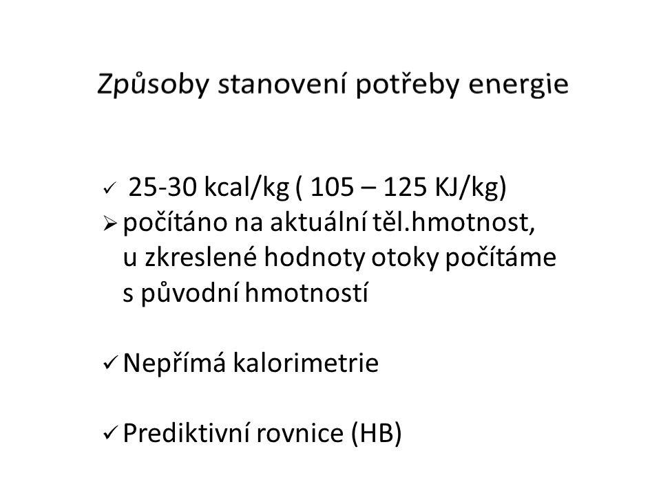 Způsoby stanovení potřeby energie