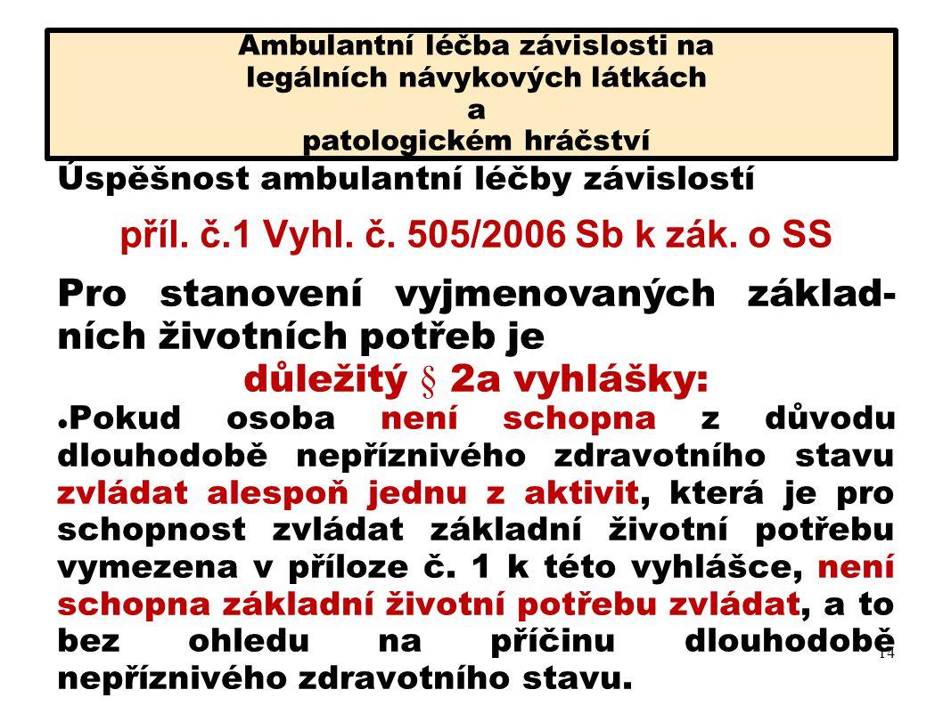 příl. č.1 Vyhl. č. 505/2006 Sb k zák. o SS