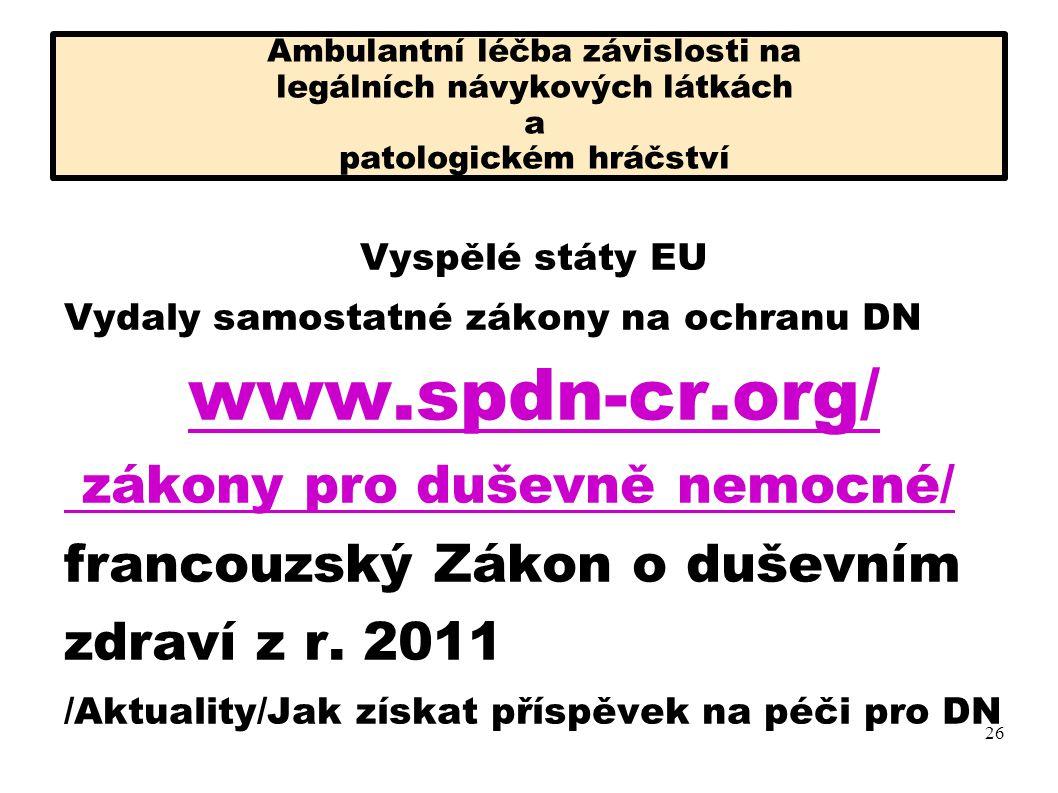 www.spdn-cr.org/ zákony pro duševně nemocné/