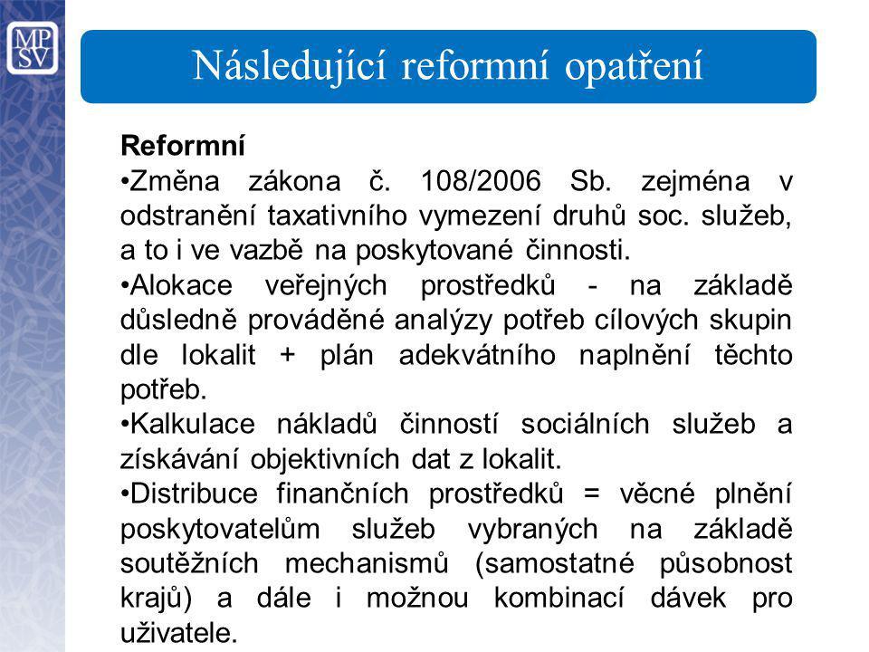 Následující reformní opatření
