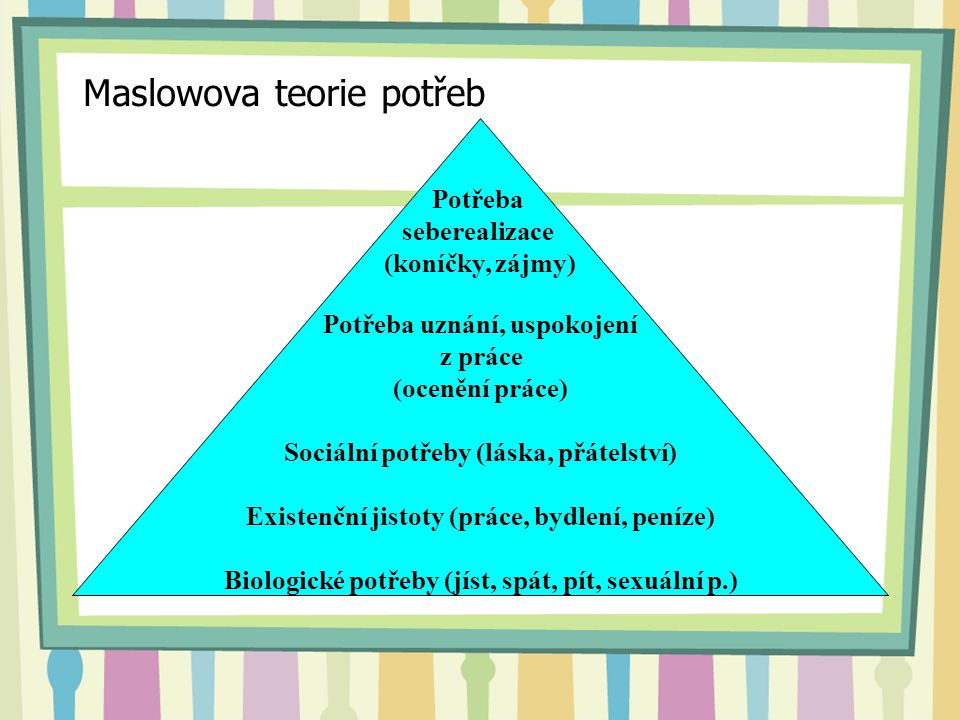 Maslowova teorie potřeb