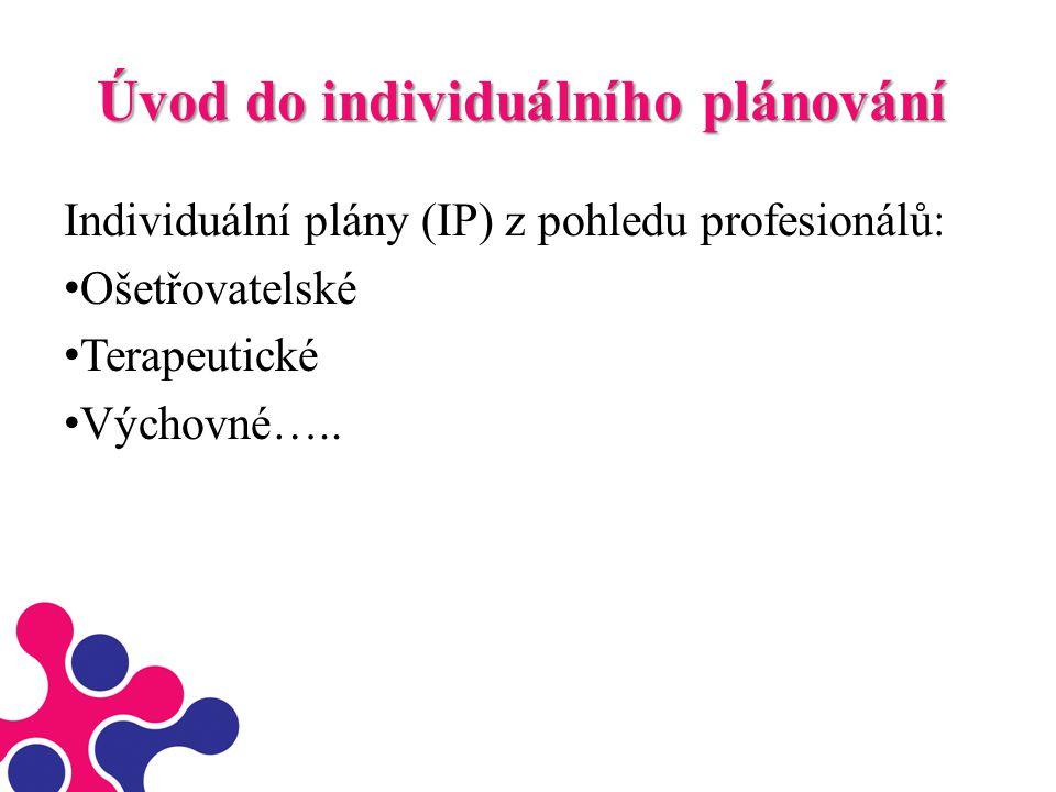 Úvod do individuálního plánování