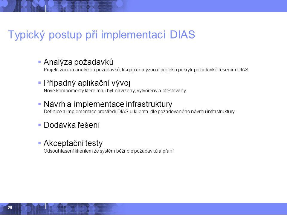 Typický postup při implementaci DIAS
