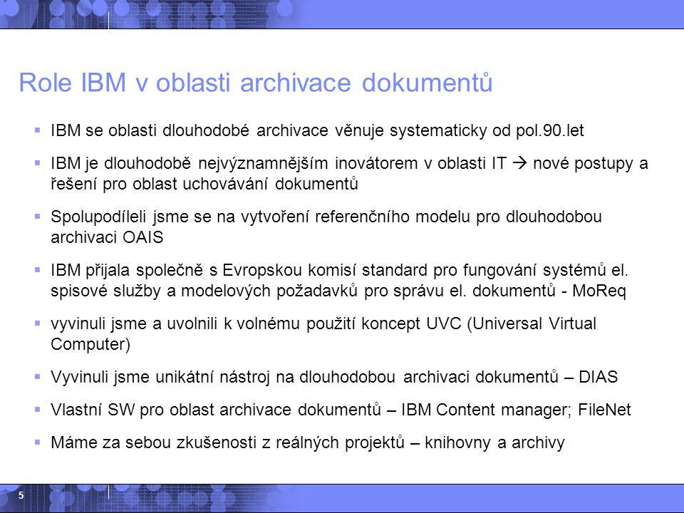 Role IBM v oblasti archivace dokumentů