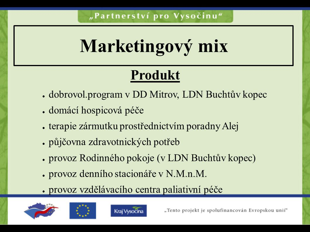 Marketingový mix Produkt