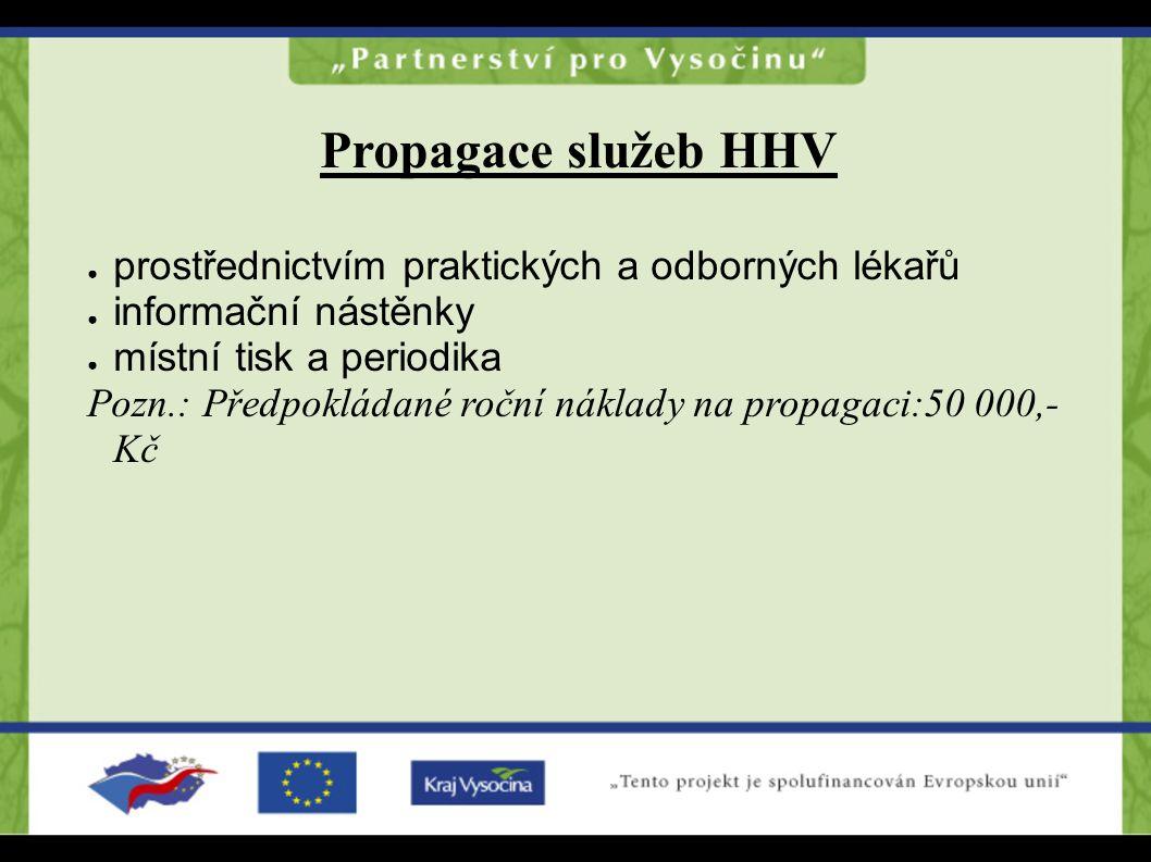 Propagace služeb HHV prostřednictvím praktických a odborných lékařů