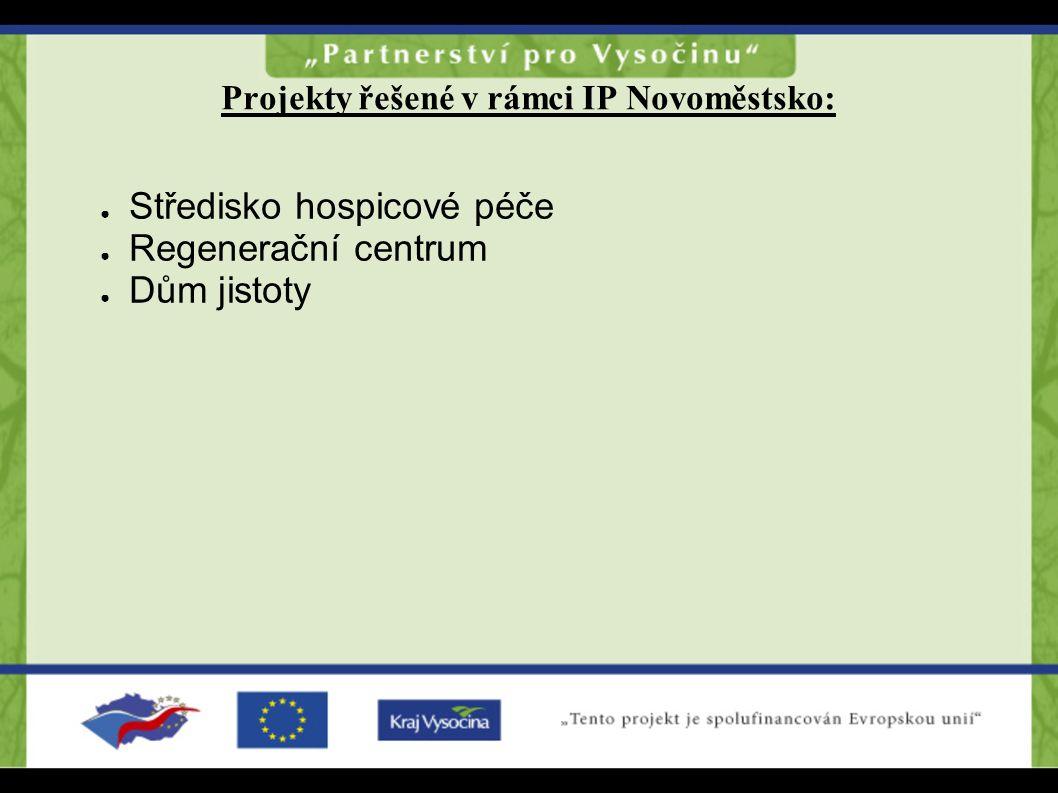 Projekty řešené v rámci IP Novoměstsko: