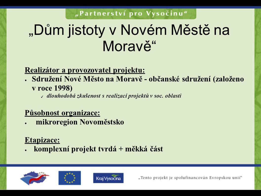 """""""Dům jistoty v Novém Městě na Moravě"""