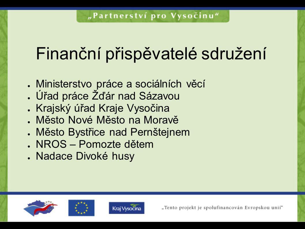 Finanční přispěvatelé sdružení