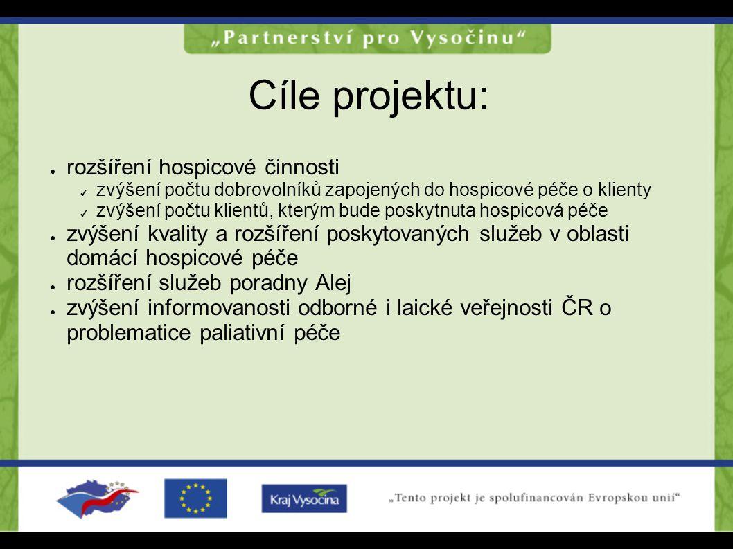 Cíle projektu: rozšíření hospicové činnosti