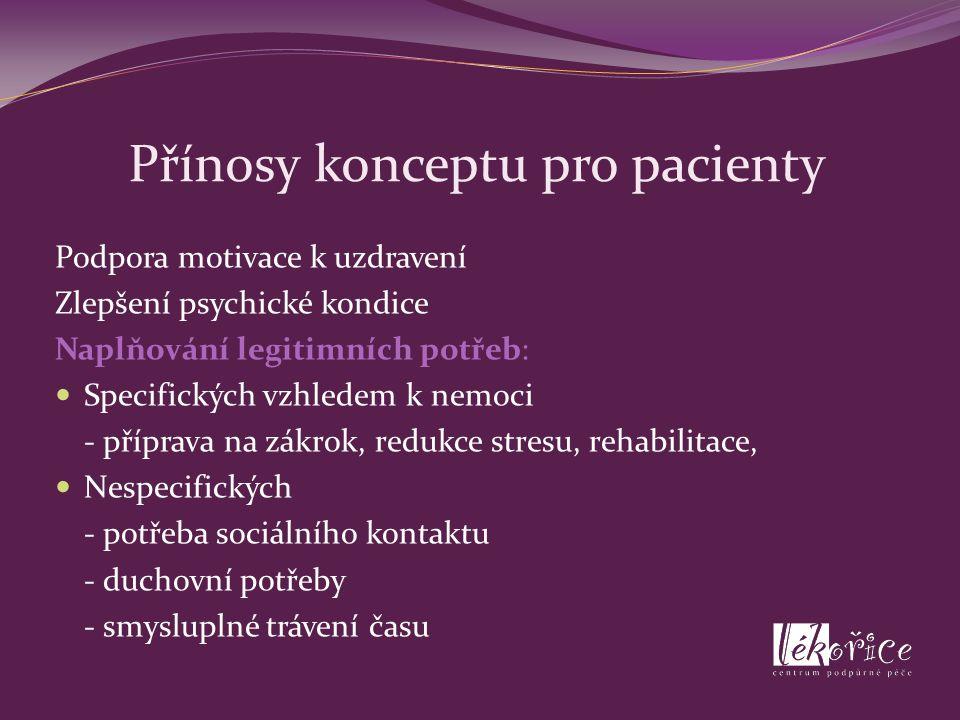 Přínosy konceptu pro pacienty