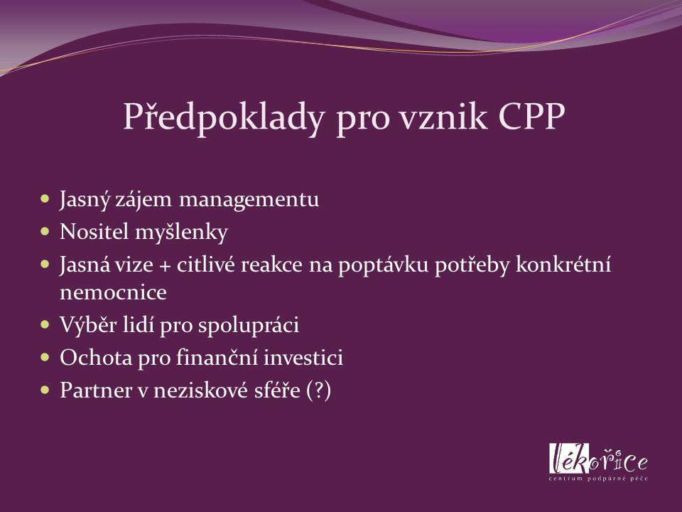 Předpoklady pro vznik CPP