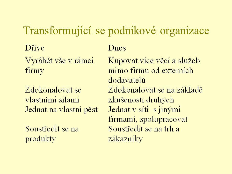 Transformující se podnikové organizace