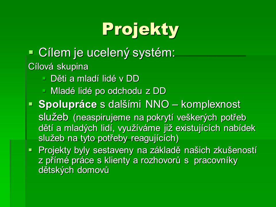 Projekty Cílem je ucelený systém: