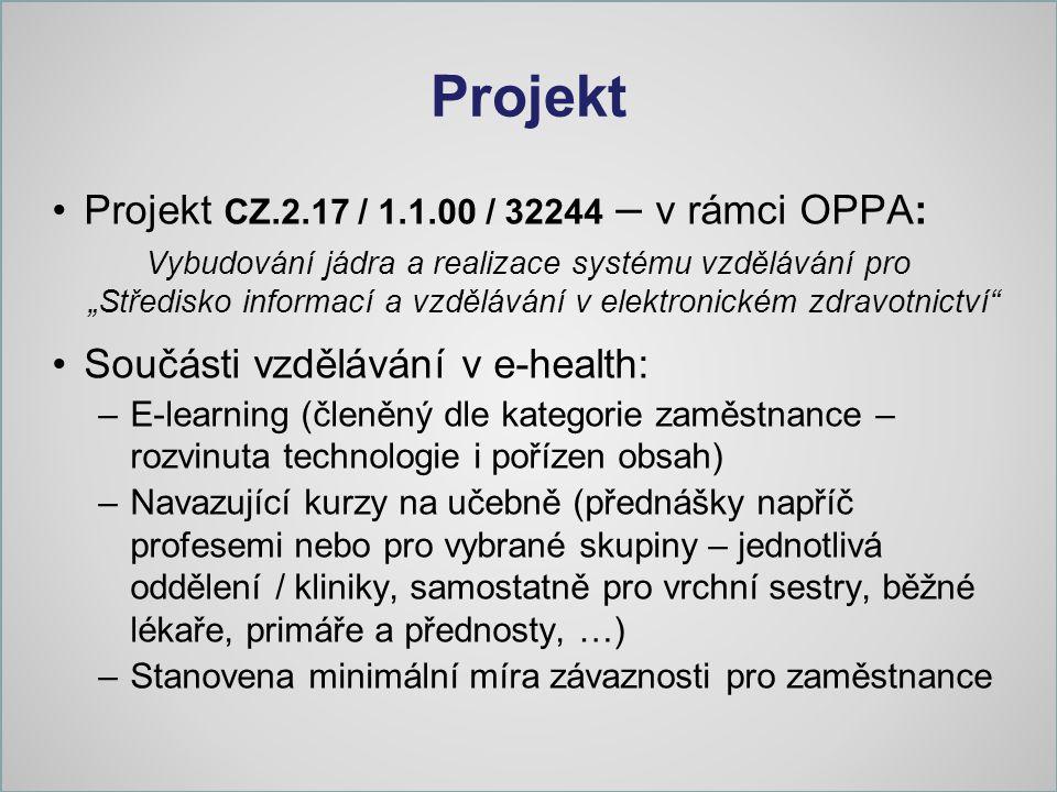 Projekt Projekt CZ.2.17 / 1.1.00 / 32244 – v rámci OPPA: