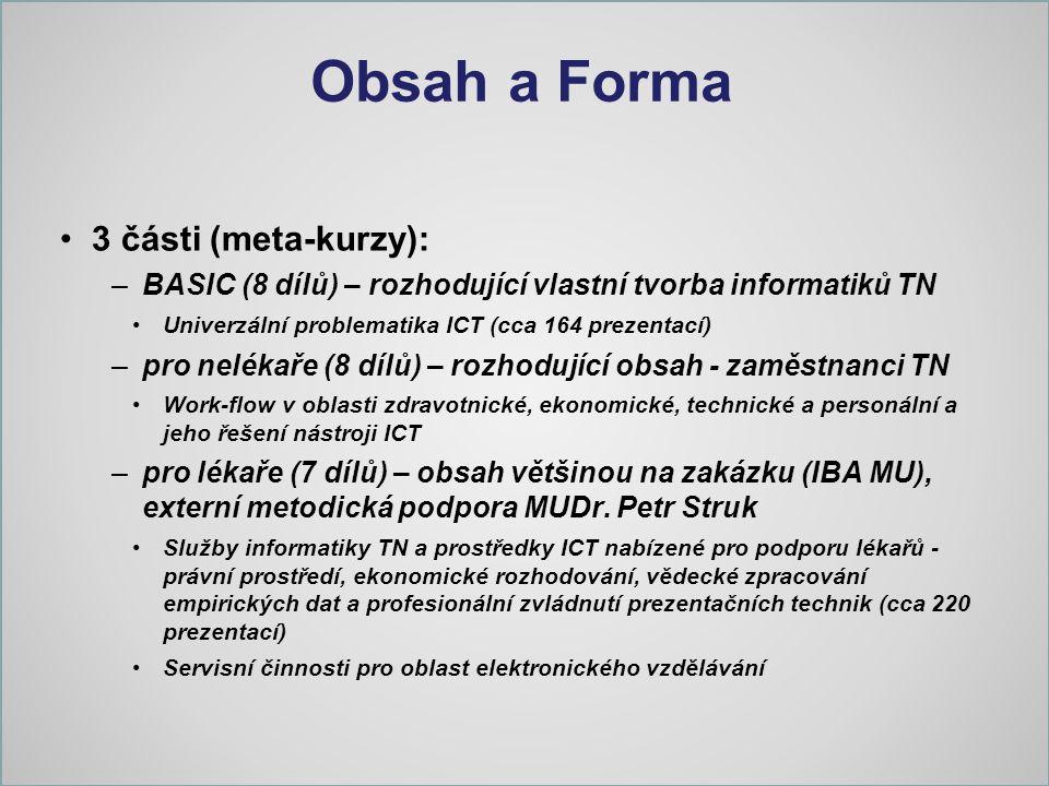 Obsah a Forma 3 části (meta-kurzy):