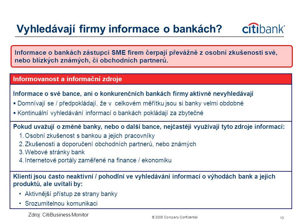 Vyhledávají firmy informace o bankách