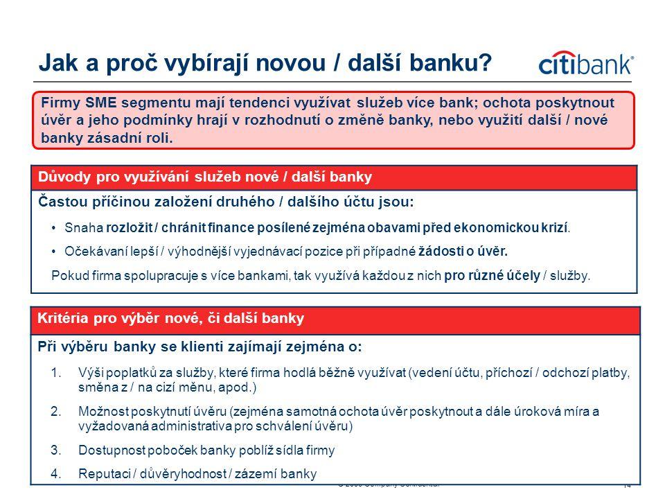 Jak a proč vybírají novou / další banku