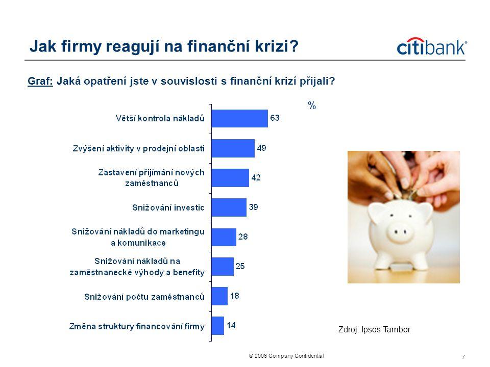 Jak firmy reagují na finanční krizi