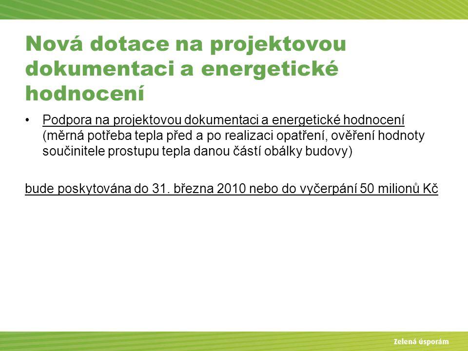 Nová dotace na projektovou dokumentaci a energetické hodnocení