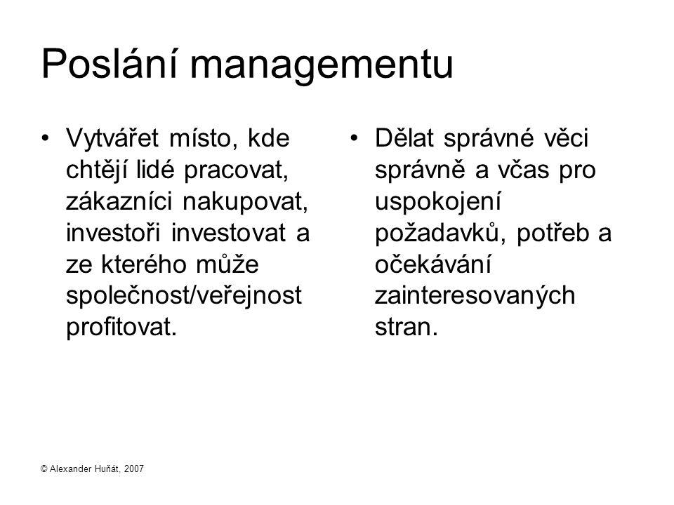 Poslání managementu