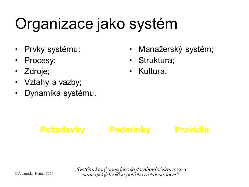 Organizace jako systém
