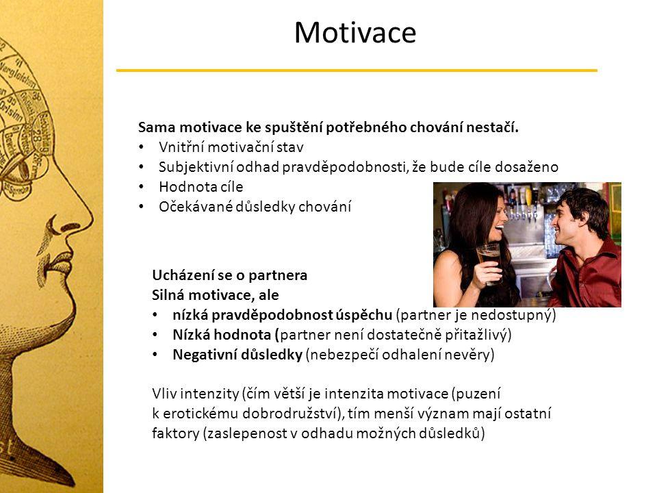 Motivace Sama motivace ke spuštění potřebného chování nestačí.