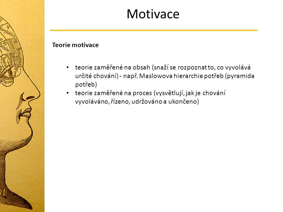 Motivace Teorie motivace