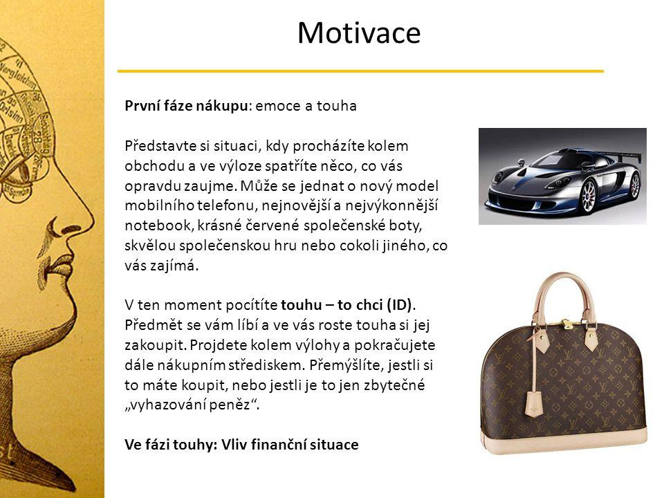 Motivace První fáze nákupu: emoce a touha