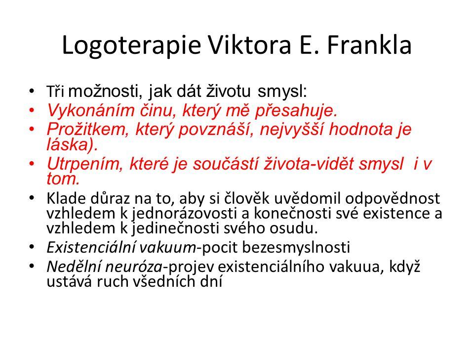 Logoterapie Viktora E. Frankla