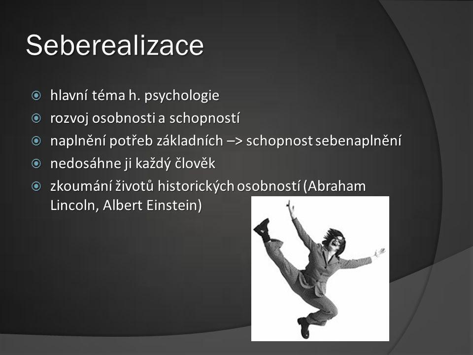 Seberealizace hlavní téma h. psychologie rozvoj osobnosti a schopností
