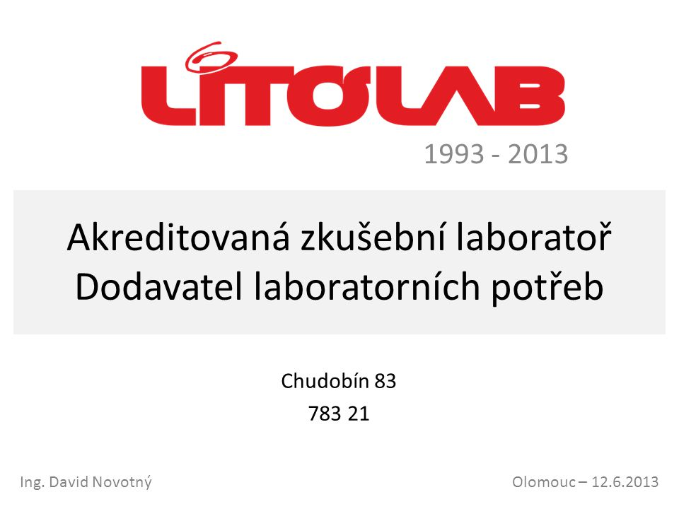 Akreditovaná zkušební laboratoř Dodavatel laboratorních potřeb