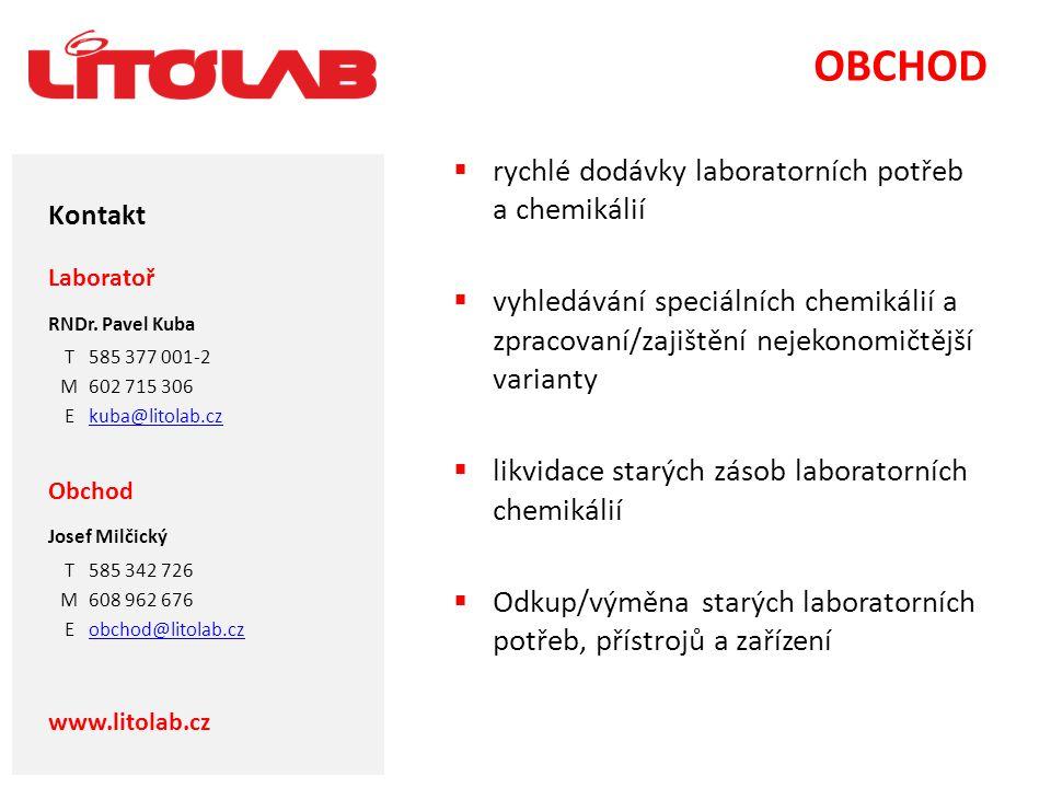 OBCHOD rychlé dodávky laboratorních potřeb a chemikálií