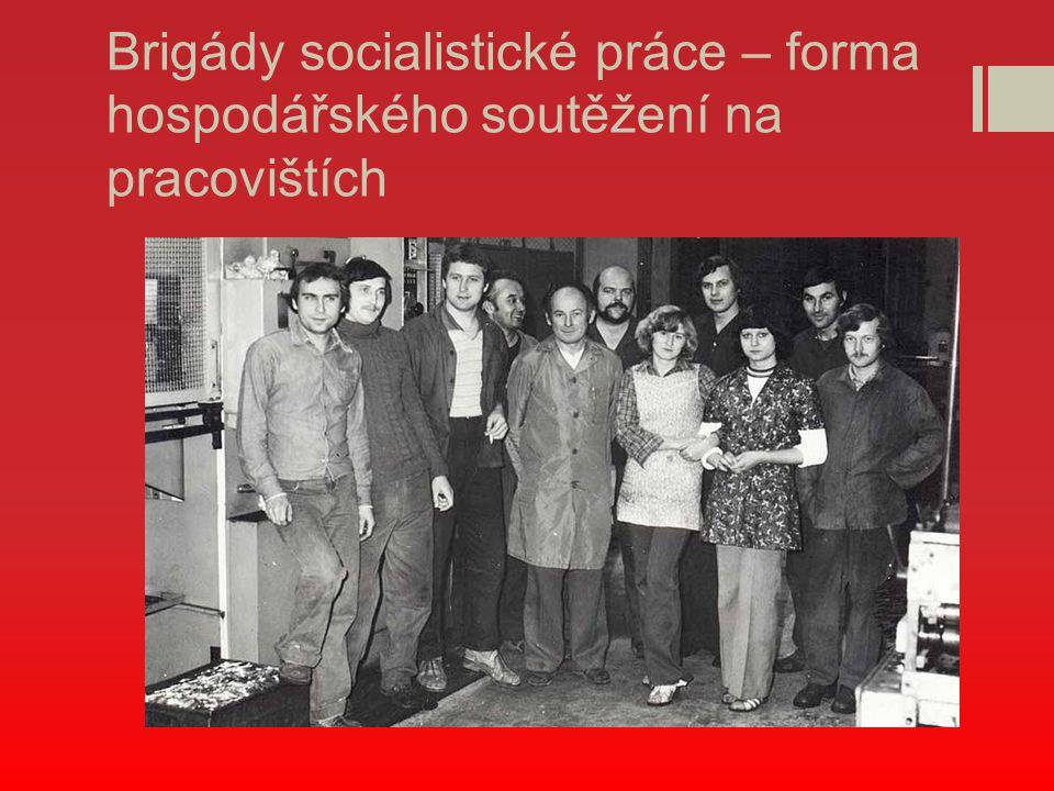 Brigády socialistické práce – forma hospodářského soutěžení na pracovištích