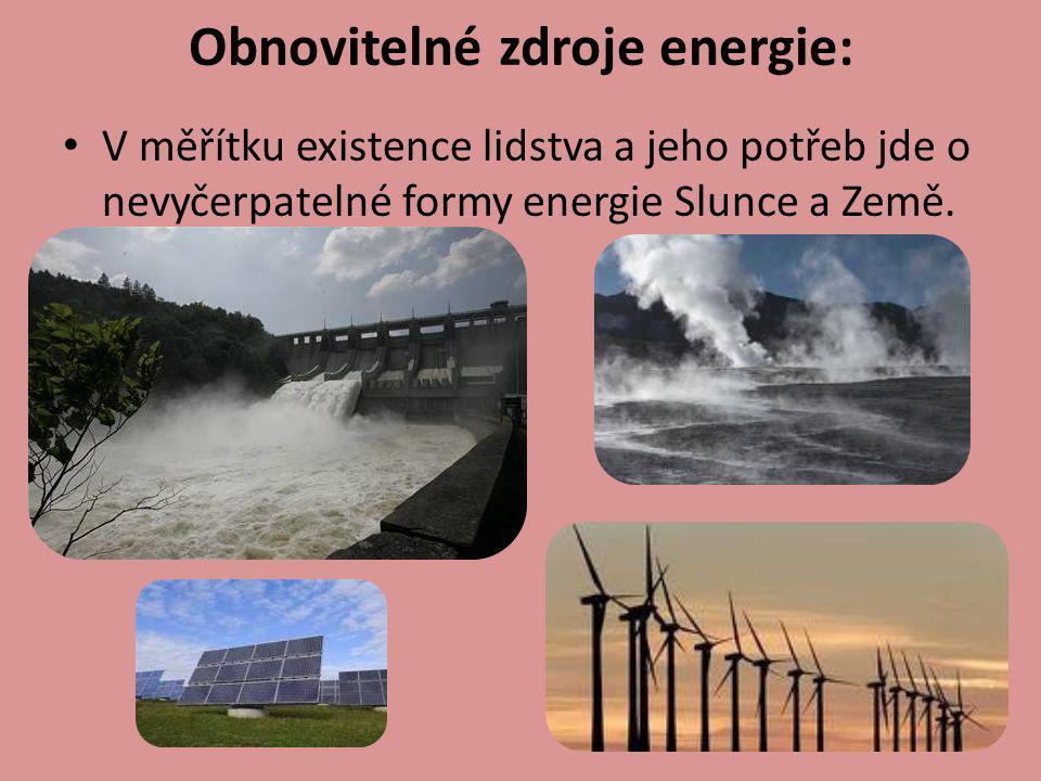 Obnovitelné zdroje energie: