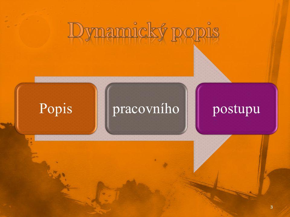 Dynamický popis Popis pracovního postupu