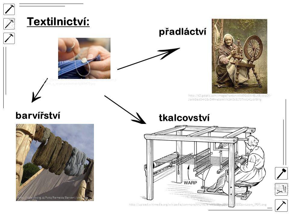 Textilnictví: přadláctví barvířství tkalcovství