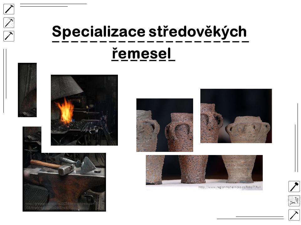 Specializace středověkých řemesel
