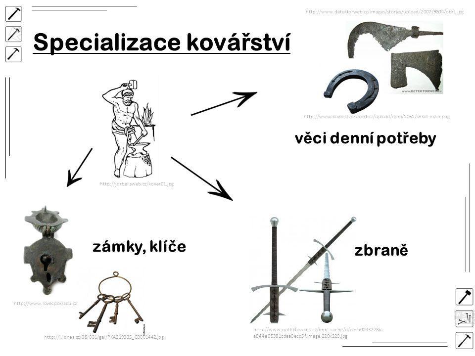 Specializace kovářství