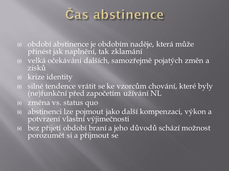 Čas abstinence období abstinence je obdobím naděje, která může přinést jak naplnění, tak zklamání.
