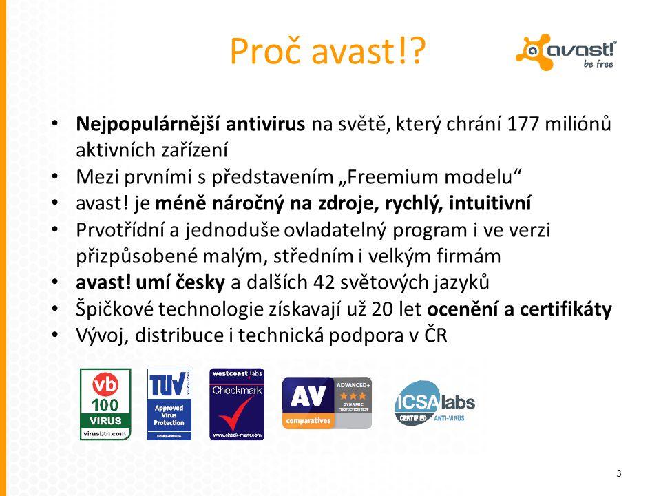"""Proč avast! Nejpopulárnější antivirus na světě, který chrání 177 miliónů aktivních zařízení. Mezi prvními s představením """"Freemium modelu"""