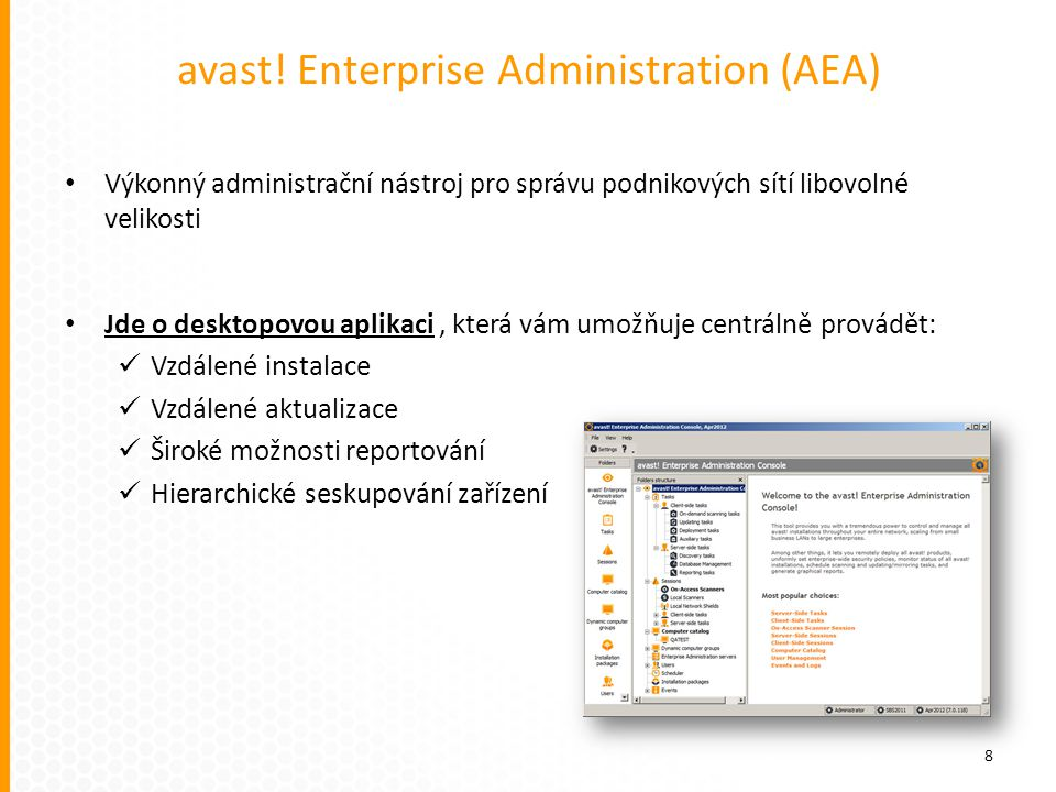 avast! Enterprise Administration (AEA)