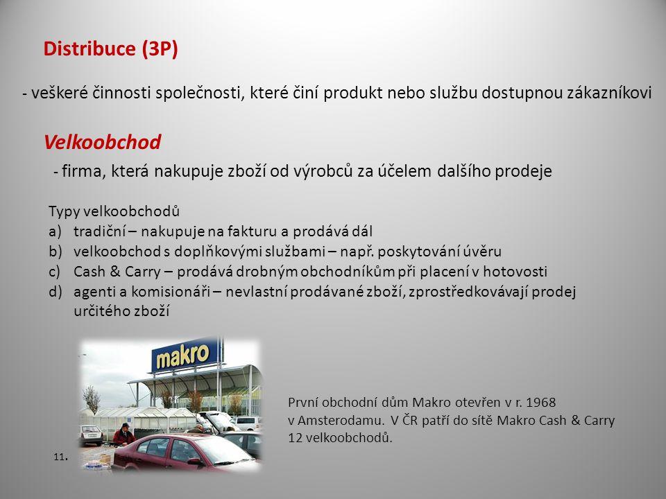Distribuce (3P) Velkoobchod